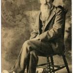Civil War Veteran John Denton; about 1910.