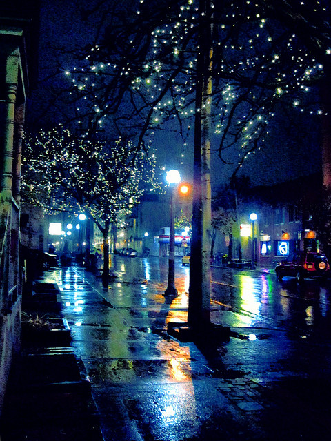 Rainy night on Church St.